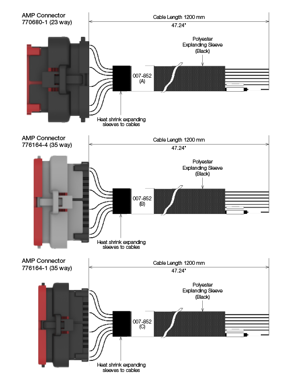 M64X Connector Harness Set connection diagram