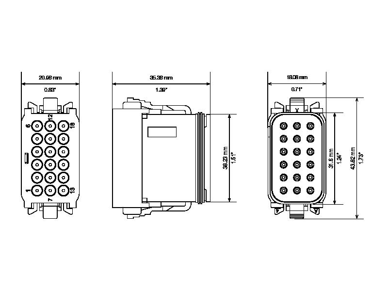 dt16 deutsch connector c