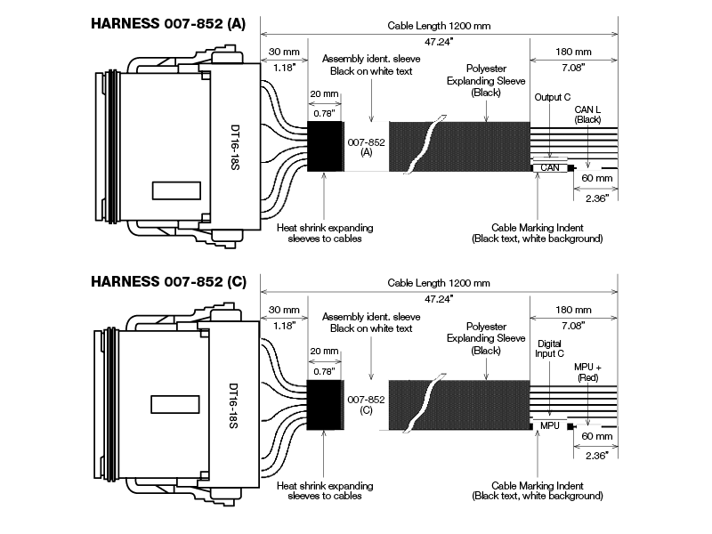 E400 Connector Harness Set connection diagram