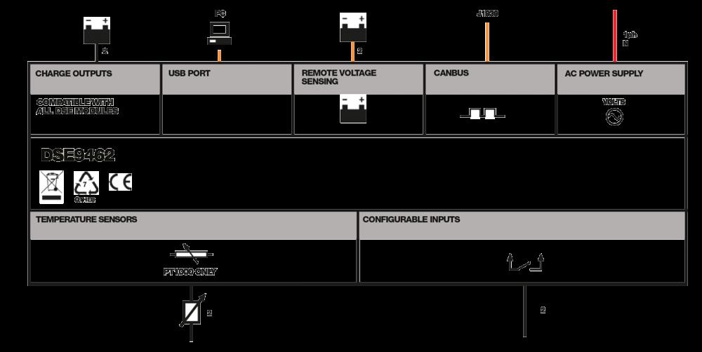 DSE9462 (Dual Output) connection diagram