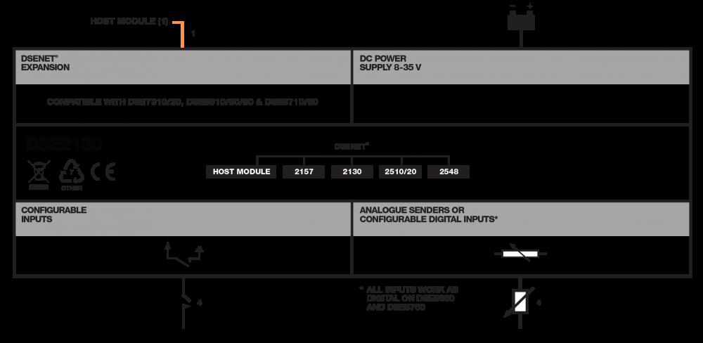DSE2130 connection diagram