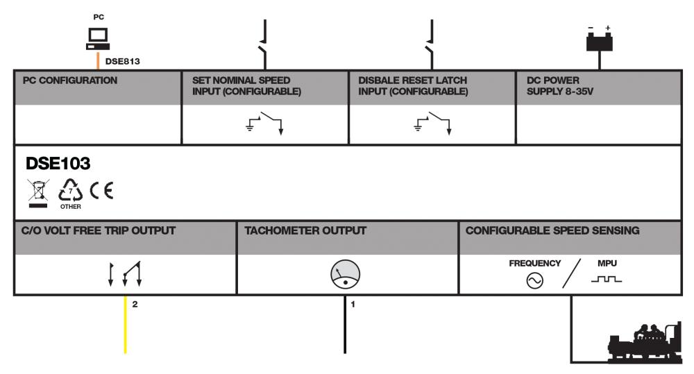 DSE103 MKII connection diagram