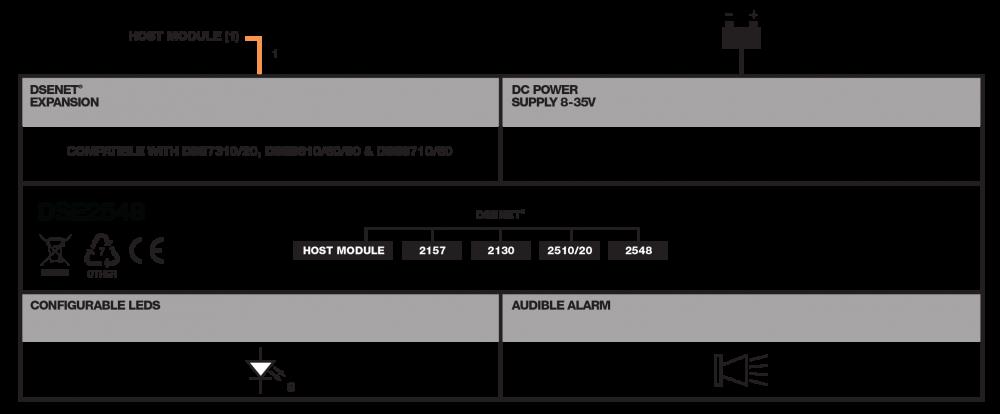 DSE2548 connection diagram