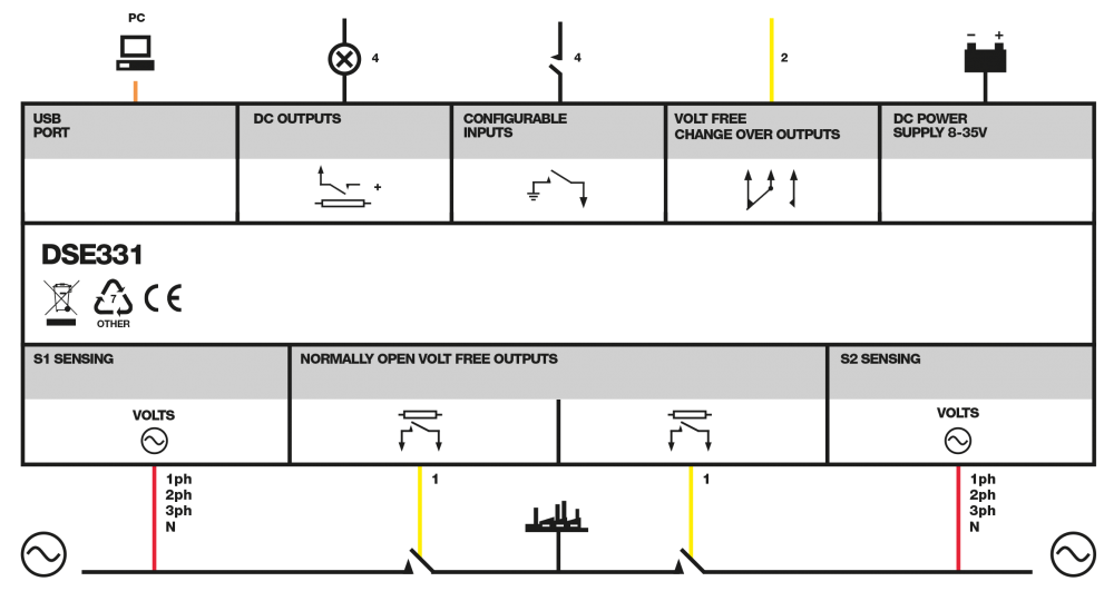 DSE331 connection diagram