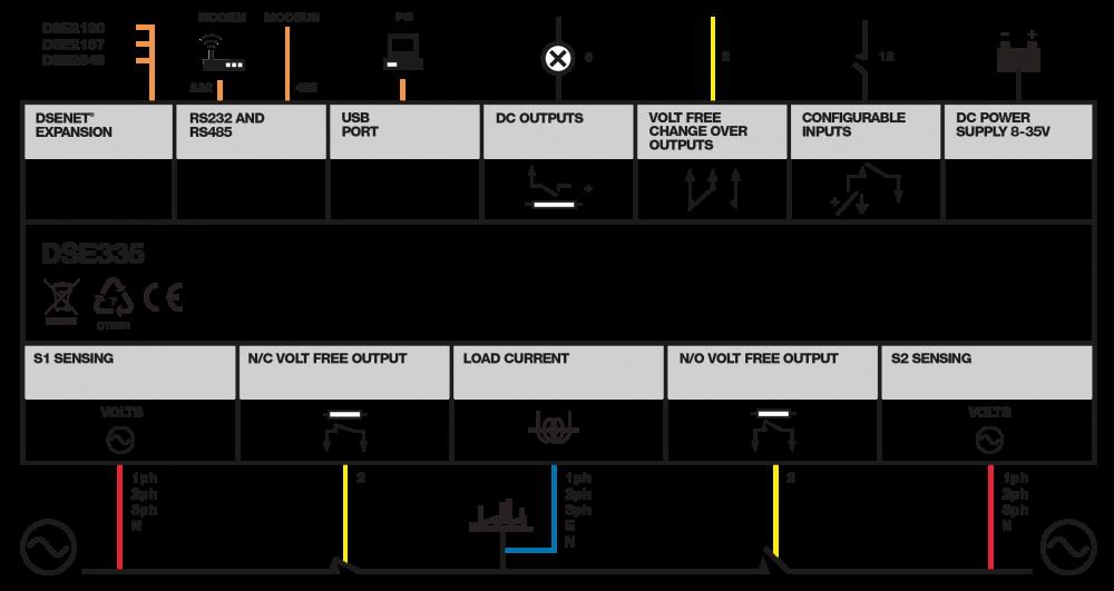 DSE335 connection diagram