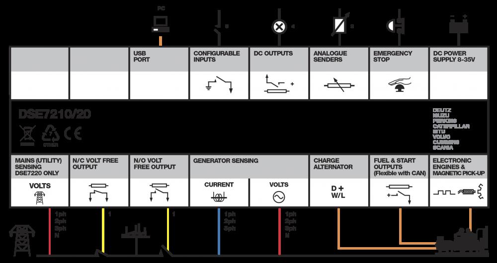 DSE7220 connection diagram