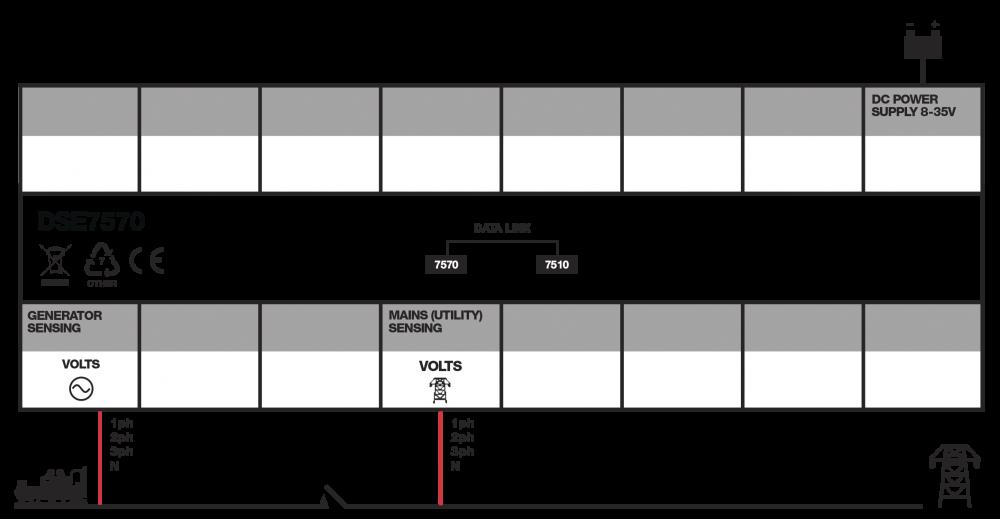 DSE7570 connection diagram