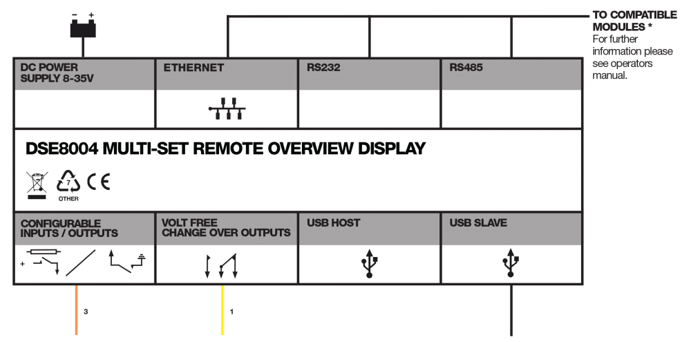 DSE8004 connection diagram