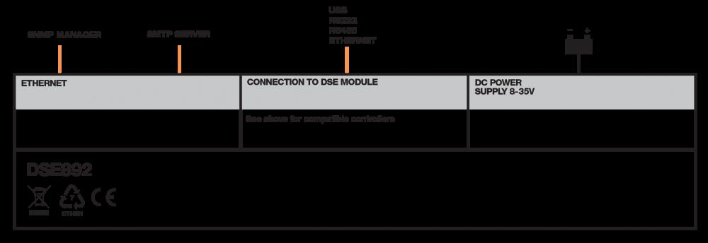 DSE892 connection diagram