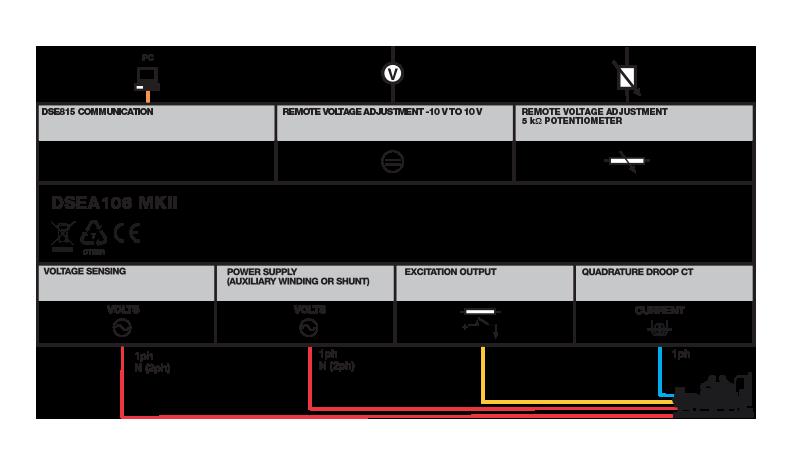 DSEA106 MKII connection diagram