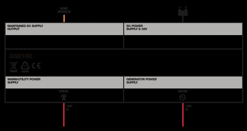 DSE160 connection diagram