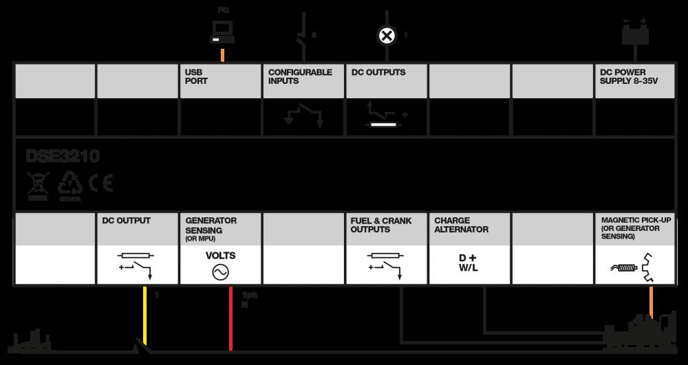 DSE3210 connection diagram
